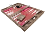 picture of Hector Saxe Cosmos Linen Travel Backgammon Set - Taupe (3 of 12)