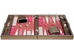 picture of Hector Saxe Cosmos Linen Travel Backgammon Set - Taupe (4 of 12)