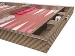 picture of Hector Saxe Cosmos Linen Travel Backgammon Set - Taupe (6 of 12)