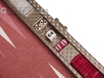 picture of Hector Saxe Cosmos Linen Travel Backgammon Set - Taupe (7 of 12)