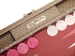 picture of Hector Saxe Cosmos Linen Travel Backgammon Set - Taupe (9 of 12)