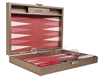 picture of Hector Saxe Cosmos Linen Travel Backgammon Set - Taupe (11 of 12)