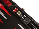 picture of Hector Saxe Braided Leather Travel Backgammon Set - Black (7 of 12)