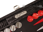 picture of Hector Saxe Braided Leather Travel Backgammon Set - Black (9 of 12)