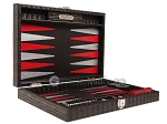 picture of Hector Saxe Braided Leather Travel Backgammon Set - Black (11 of 12)
