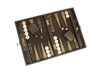 picture of Hector Saxe Braided Leather Travel Backgammon Set - Moka (2 of 6)