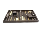picture of Hector Saxe Braided Leather Travel Backgammon Set - Moka (3 of 6)