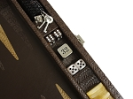 picture of Hector Saxe Braided Leather Travel Backgammon Set - Moka (4 of 6)