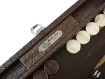 picture of Hector Saxe Braided Leather Travel Backgammon Set - Moka (5 of 6)