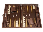 picture of Hector Saxe Braided Leather Travel Backgammon Set - Moka (1 of 12)