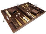 picture of Hector Saxe Braided Leather Travel Backgammon Set - Moka (2 of 12)
