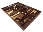 picture of Hector Saxe Braided Leather Travel Backgammon Set - Moka (3 of 12)