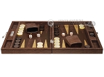 picture of Hector Saxe Braided Leather Travel Backgammon Set - Moka (4 of 12)