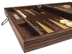 picture of Hector Saxe Braided Leather Travel Backgammon Set - Moka (5 of 12)