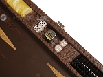 picture of Hector Saxe Braided Leather Travel Backgammon Set - Moka (7 of 12)