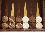 picture of Hector Saxe Braided Leather Travel Backgammon Set - Moka (8 of 12)