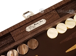 picture of Hector Saxe Braided Leather Travel Backgammon Set - Moka (9 of 12)