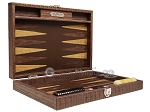 picture of Hector Saxe Braided Leather Travel Backgammon Set - Moka (11 of 12)