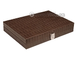 picture of Hector Saxe Braided Leather Travel Backgammon Set - Moka (12 of 12)