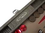 picture of Hector Saxe Braided Leather Travel Backgammon Set - Taupe (4 of 6)