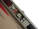 picture of Hector Saxe Braided Leather Travel Backgammon Set - Taupe (5 of 6)