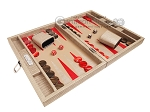picture of Hector Saxe Braided Leather Travel Backgammon Set - Taupe (2 of 12)