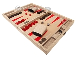 picture of Hector Saxe Braided Leather Travel Backgammon Set - Taupe (3 of 12)