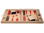 picture of Hector Saxe Braided Leather Travel Backgammon Set - Taupe (4 of 12)