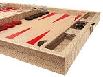 picture of Hector Saxe Braided Leather Travel Backgammon Set - Taupe (6 of 12)
