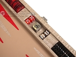 picture of Hector Saxe Braided Leather Travel Backgammon Set - Taupe (7 of 12)