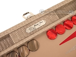 picture of Hector Saxe Braided Leather Travel Backgammon Set - Taupe (9 of 12)
