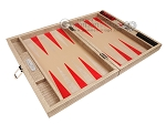 picture of Hector Saxe Braided Leather Travel Backgammon Set - Taupe (10 of 12)