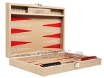 picture of Hector Saxe Braided Leather Travel Backgammon Set - Taupe (11 of 12)