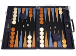 Hector Saxe Denim Backgammon Set - Dark Blue - Item: 3894
