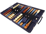 picture of Hector Saxe Denim Backgammon Set - Dark Blue (3 of 12)