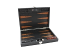 Hector Saxe Arizona Leather Travel Backgammon Set - Black - Item: 3872