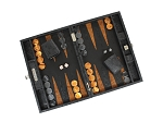picture of Hector Saxe Arizona Leather Travel Backgammon Set - Black (2 of 6)