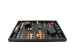 picture of Hector Saxe Arizona Leather Travel Backgammon Set - Black (3 of 6)