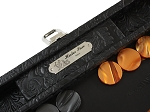 picture of Hector Saxe Arizona Leather Travel Backgammon Set - Black (4 of 6)