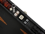 picture of Hector Saxe Arizona Leather Travel Backgammon Set - Black (5 of 6)