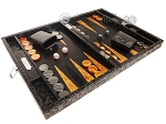 picture of Hector Saxe Arizona Leather Travel Backgammon Set - Black (2 of 12)