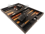 picture of Hector Saxe Arizona Leather Travel Backgammon Set - Black (3 of 12)