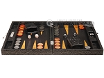 picture of Hector Saxe Arizona Leather Travel Backgammon Set - Black (4 of 12)