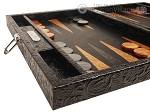 picture of Hector Saxe Arizona Leather Travel Backgammon Set - Black (5 of 12)