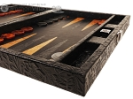 picture of Hector Saxe Arizona Leather Travel Backgammon Set - Black (6 of 12)
