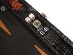 picture of Hector Saxe Arizona Leather Travel Backgammon Set - Black (7 of 12)