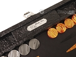 picture of Hector Saxe Arizona Leather Travel Backgammon Set - Black (9 of 12)