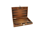 Hector Saxe Arizona Leather Travel Backgammon Set - Cognac