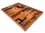 picture of Hector Saxe Arizona Leather Travel Backgammon Set - Cognac (3 of 12)
