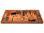 picture of Hector Saxe Arizona Leather Travel Backgammon Set - Cognac (4 of 12)
